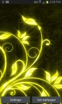 Yellow Flourishes LWP free screenshot 2/3