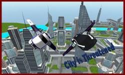 Flying Police Car 3D screenshot 1/3