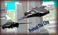 Flying Police Car 3D screenshot 2/3