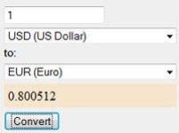 Currency converter screenshot 1/1