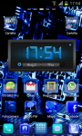HiTech Electric Blue Theme GoLauncher EX screenshot 1/3