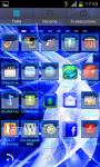 HiTech Electric Blue Theme GoLauncher EX screenshot 2/3