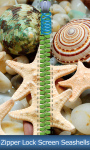 Zipper Lock Screen Seashells screenshot 1/6