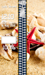 Zipper Lock Screen Seashells screenshot 4/6
