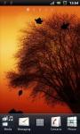Yellow Evening Tree Silhouette Live Wallpaper screenshot 1/3