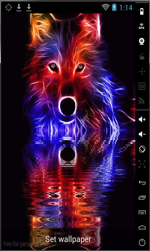 Free Colorful Wolf Live Wallpaper APK Download For Android ...