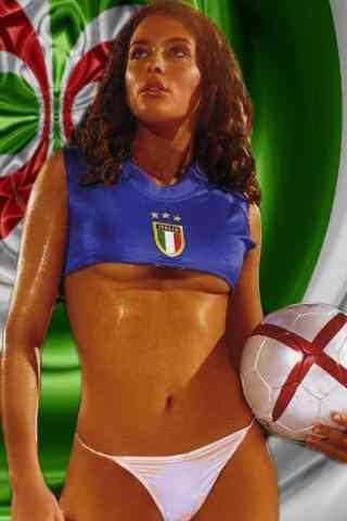 Soccer bikini Italian