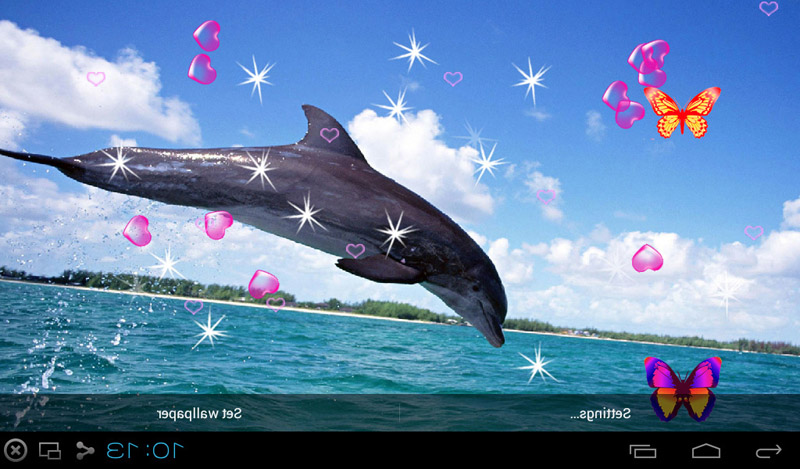 Free 3d dolphin live wallpapers apk download for android for Wallpaper live home