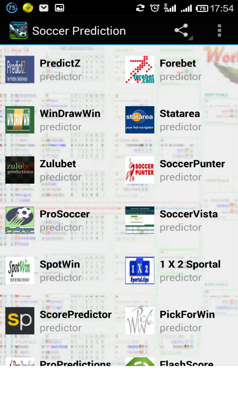 prediction soccer
