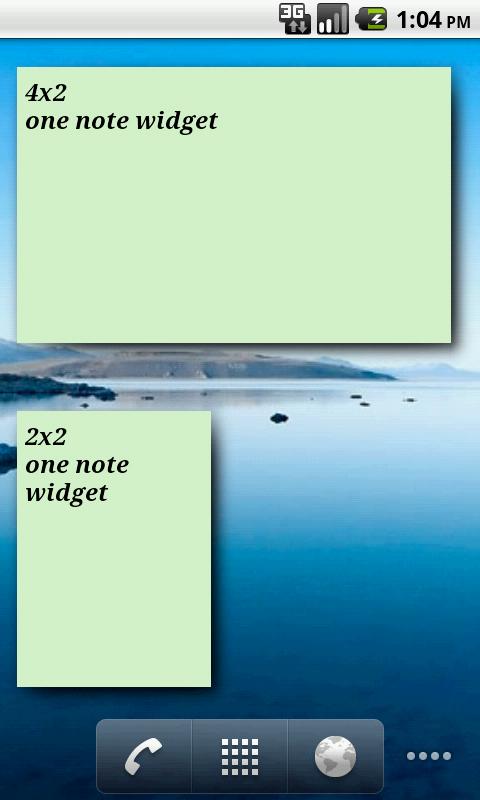 One Note Widget
