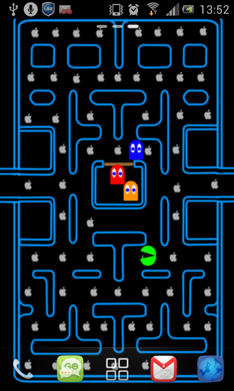 Free pac man game live wallpaper apk download for android getjar - Video game live wallpapers ...