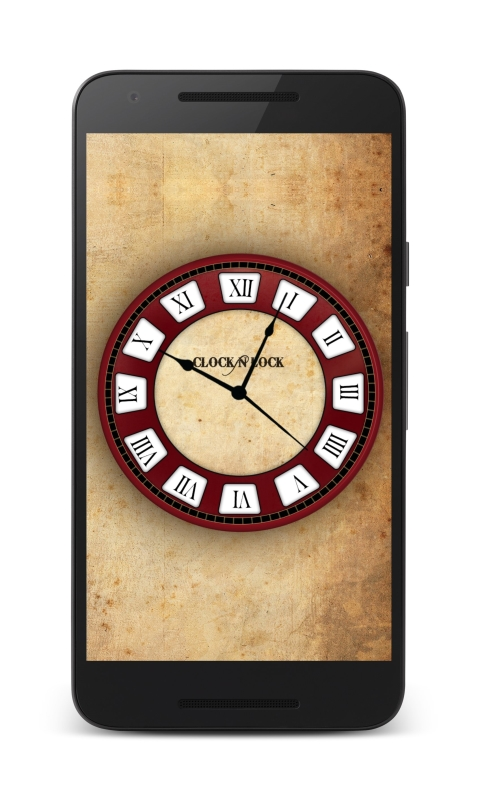 how to change lock screen clock