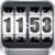 3D Rolling Clock widgets WHITE app for free