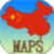 Maps of China app for free