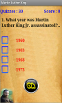 Martin Luther King Quiz screenshot 2/4