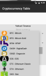 Cryptocurrency Table screenshot 3/6
