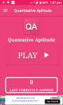 Quantitative Aptitude -QA App screenshot 1/6