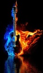 Guitar Fire Live Wallpape screenshot 1/3