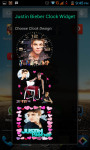 Justin Bieber Clock Widget New screenshot 1/4